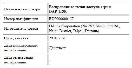Беспроводные точки доступа серии DAP-1150