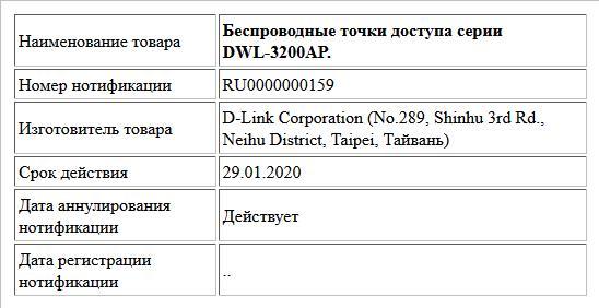 Беспроводные точки доступа серии DWL-3200AP