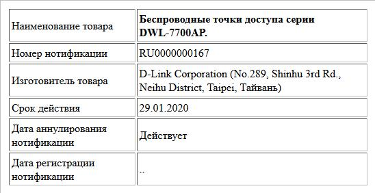 Беспроводные точки доступа серии DWL-7700AP