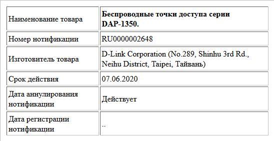 Беспроводные точки доступа серии DAP-1350.