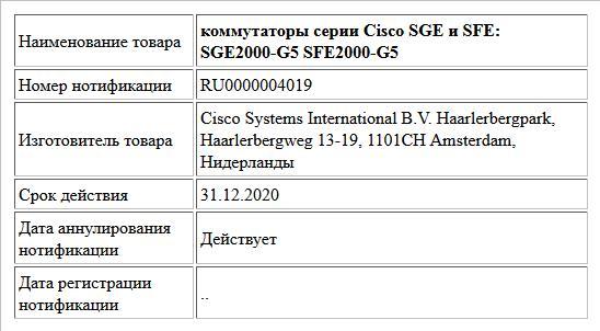 коммутаторы серии Cisco SGE и SFE:  SGE2000-G5  SFE2000-G5