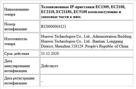 Телевизионные IP-приставки ЕС1309, ЕС2108, ЕС2118, ЕС2118S, ЕС5108 комплектующие и запасные части к ним.