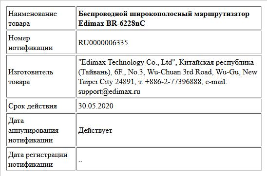 Беспроводной широкополосный маршрутизатор Edimax BR-6228nC