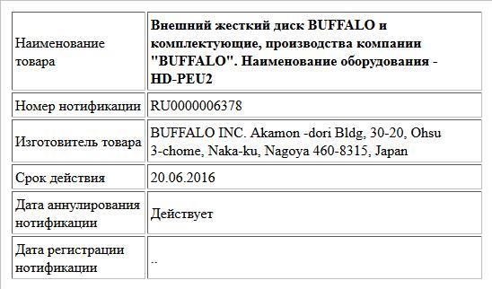 Внешний жесткий диск BUFFALO и комплектующие, производства компании