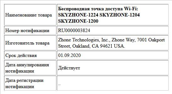 Беспроводная точка доступа Wi-Fi: SKYZHONE-1224 SKYZHONE-1204 SKYZHONE-1200