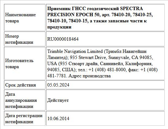 Приемник ГНСС геодезический SPECTRA PRECISION EPOCH 50, арт. 78410-20, 78410-25, 78410-10, 78410-15, а также запасные части к продукции