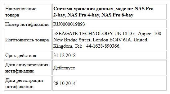 Система хранения данных, модели: NAS Pro 2-bay, NAS Pro 4-bay, NAS Pro 6-bay