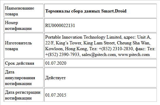 Терминалы сбора данных Smart.Droid
