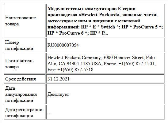 Модели сетевых коммутаторов Е-серии производства «Hewlett-Packard», запасные части, аксессуары к ним и лицензии с ключевой информацией:  HP * Е * Switch *; HP * ProCurve 5 *; HP * ProCurve 6 *; HP * P...