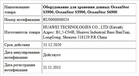 Оборудование для хранения данных OceanStor S3900, OceanStor S5900, OceanStor S6900
