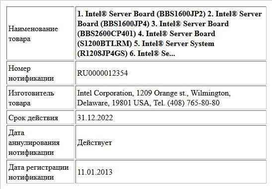 1. Intel® Server Board (BBS1600JP2)  2. Intel® Server Board (BBS1600JP4)  3. Intel® Server Board (BBS2600CP401)  4. Intel® Server Board (S1200BTLRM)  5. Intel® Server System (R1208JP4GS)  6. Intel® Se...