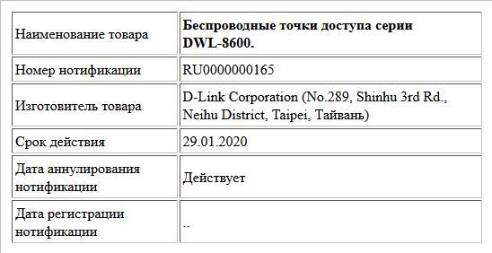 Беспроводные точки доступа серии DWL-8600