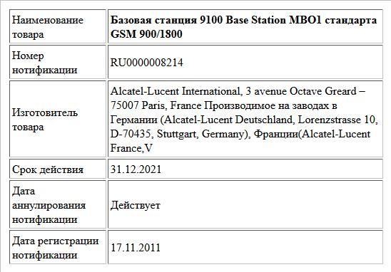 Базовая станция 9100 Base Station MBO1 стандарта GSM 900/1800