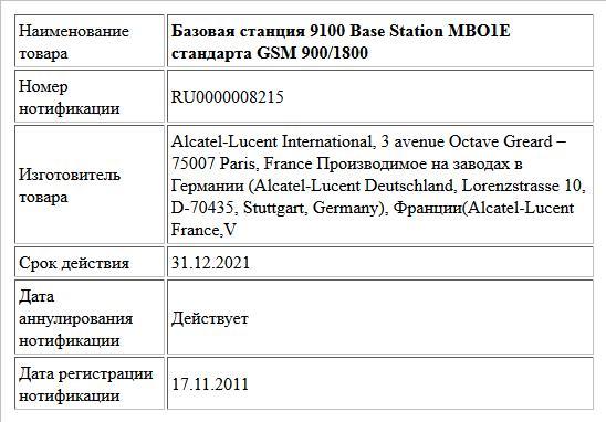 Базовая станция 9100 Base Station MBO1E стандарта GSM 900/1800