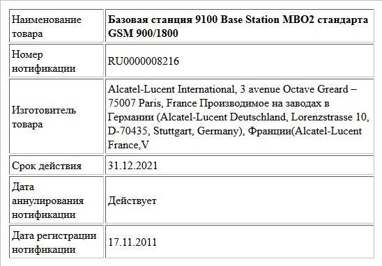 Базовая станция 9100 Base Station MBO2 стандарта GSM 900/1800