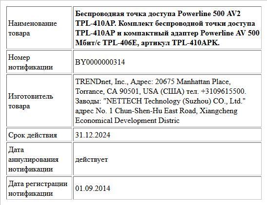 Беспроводная точка доступа Powerline 500 AV2 TPL-410AP. Комплект беспроводной точки доступа TPL-410AP и компактный адаптер Powerline AV 500 Мбит/с TPL-406E, артикул TPL-410APK.