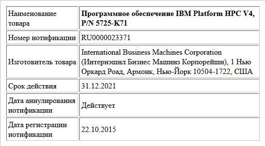 Программное обеспечение IBM Platform HPC V4, P/N 5725-K71