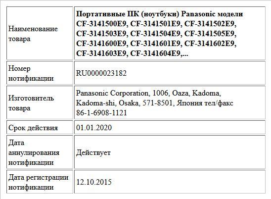 Портативные ПК (ноутбуки) Panasonic модели CF-3141500E9, CF-3141501E9,  CF-3141502E9, CF-3141503E9, CF-3141504E9, CF-3141505E9, CF-3141600E9,  CF-3141601E9, CF-3141602E9, CF-3141603E9, CF-3141604E9,...