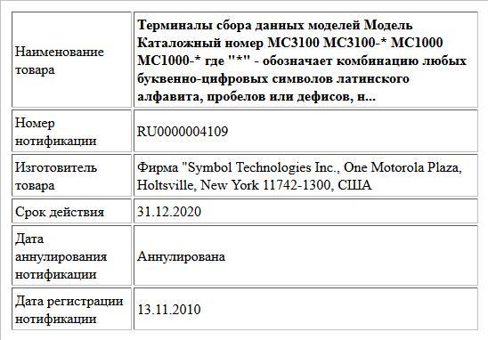Терминалы сбора данных моделей Модель Каталожный номер МС3100 МС3100-* МС1000 МС1000-* где