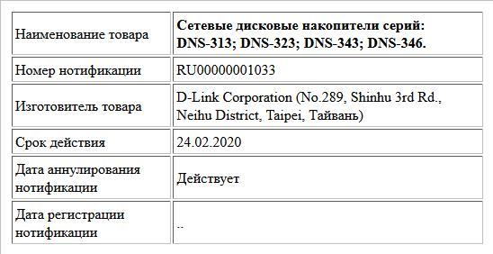 Сетевые дисковые накопители серий: DNS-313; DNS-323;  DNS-343;  DNS-346.