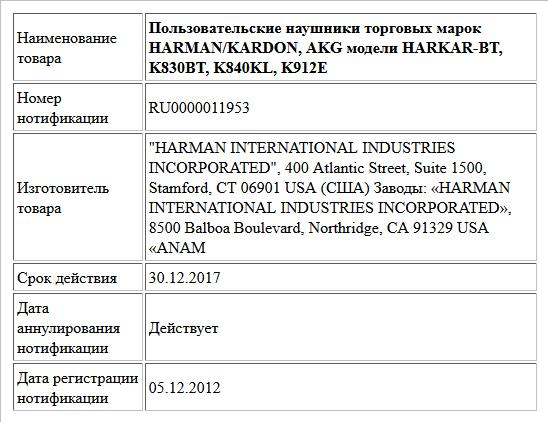 Пользовательские наушники торговых марок HARMAN/KARDON, AKG модели HARKAR-BT, K830BT, K840KL, K912E