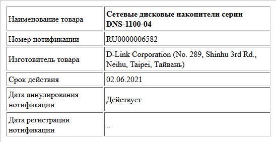 Сетевые дисковые накопители серии DNS-1100-04