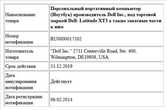 Персональный портативный компьютер (Ноутбук) производитель Dell Inc., под торговой маркой Dell: Latitude XT3 а также запасные части к ним