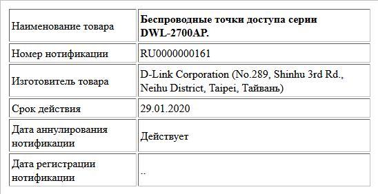 Беспроводные точки доступа серии DWL-2700AP