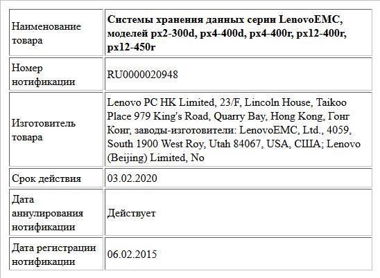Системы хранения данных серии LenovoEMC, моделей px2-300d, px4-400d, px4-400r, px12-400r, px12-450r