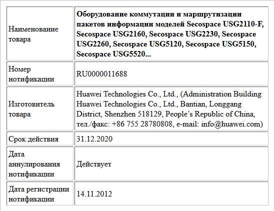 Оборудование коммутации и маршрутизации пакетов информации моделей Secospace USG2110-F, Secospace USG2160, Secospace USG2230, Secospace USG2260, Secospace USG5120, Secospace USG5150, Secospace USG5520...