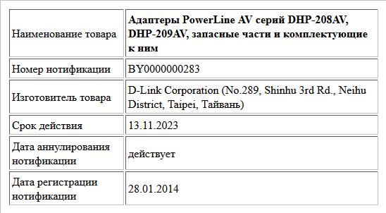 Адаптеры PowerLine AV серий DHP-208AV, DHP-209AV, запасные части и комплектующие к ним