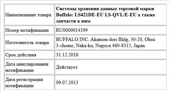 Системы хранения данных торговой марки Buffalo: LS421DE-EU LS-QVL/E-EU а также запчасти к ним