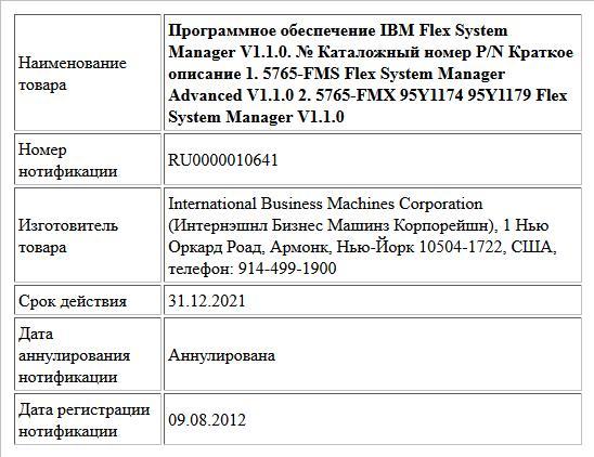 Программное обеспечение IBM Flex System Manager V1.1.0. № Каталожный номер P/N Краткое описание 1. 5765-FMS  Flex System Manager Advanced V1.1.0 2. 5765-FMX 95Y1174    95Y1179 Flex System Manager ...