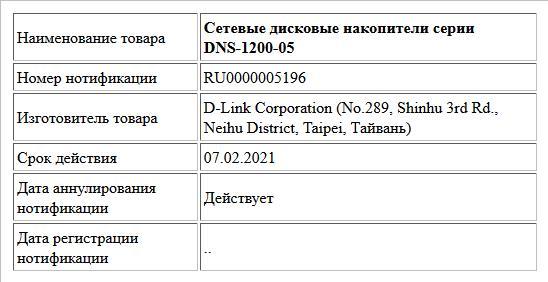 Сетевые дисковые накопители серии DNS-1200-05