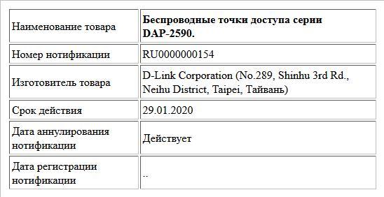 Беспроводные точки доступа серии DAP-2590