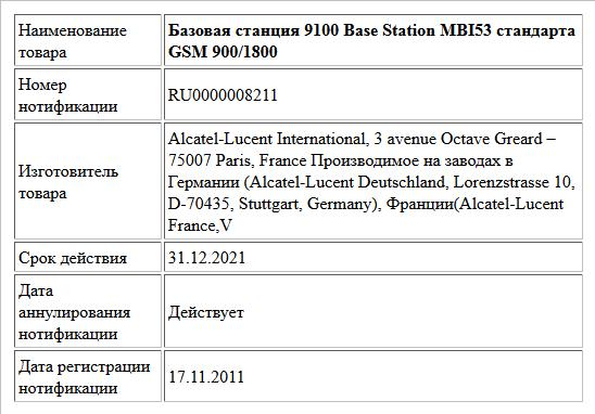 Базовая станция 9100 Base Station MBI53 стандарта GSM 900/1800
