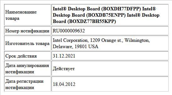 Intel® Desktop Board (BOXDH77DFPP) Intel® Desktop Board (BOXDB75ENPP) Intel® Desktop Board (BOXDZ77BH55KPP)