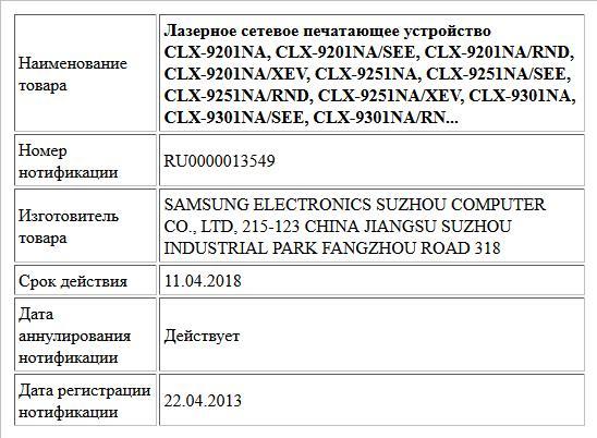 Лазерное сетевое печатающее устройство CLX-9201NA, CLX-9201NA/SEE, CLX-9201NA/RND, CLX-9201NA/XEV, CLX-9251NA, CLX-9251NA/SEE, CLX-9251NA/RND, CLX-9251NA/XEV, CLX-9301NA, CLX-9301NA/SEE, CLX-9301NA/RN...