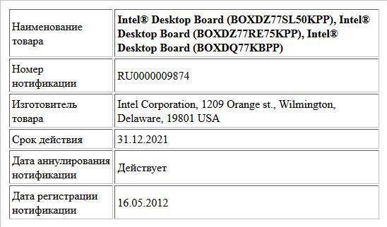 Intel® Desktop Board (BOXDZ77SL50KPP), Intel® Desktop Board (BOXDZ77RE75KPP), Intel® Desktop Board (BOXDQ77KBPP)