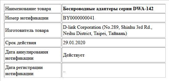 Беспроводные адаптеры серии DWA-142