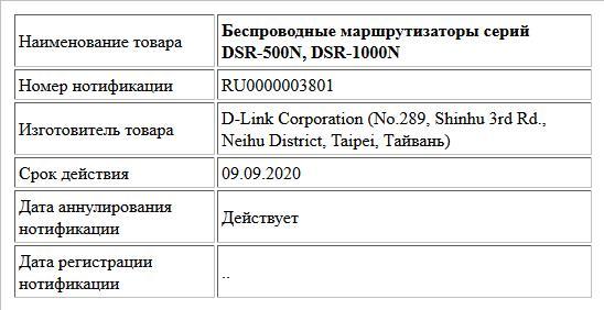 Беспроводные маршрутизаторы серий DSR-500N, DSR-1000N